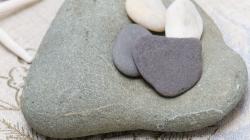 Heart Rocks at Alice's House