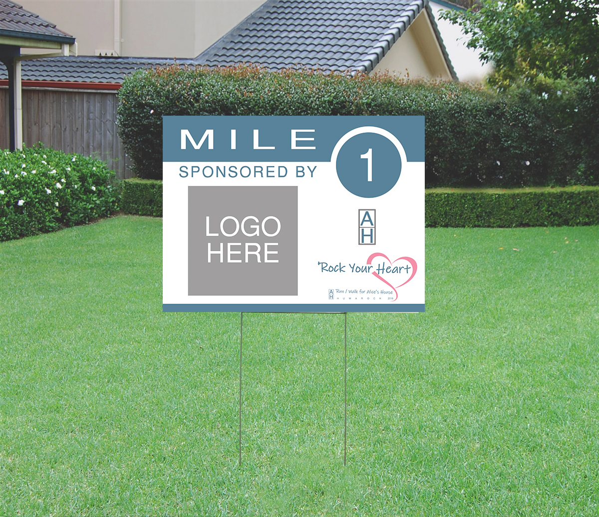 Alice's House Run Mile Marker Sample