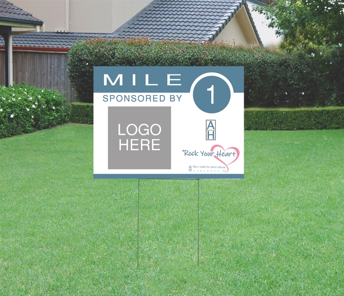 Alice's House Run Mile Marker Sample